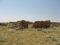 A house in the ruined town of Maduna
